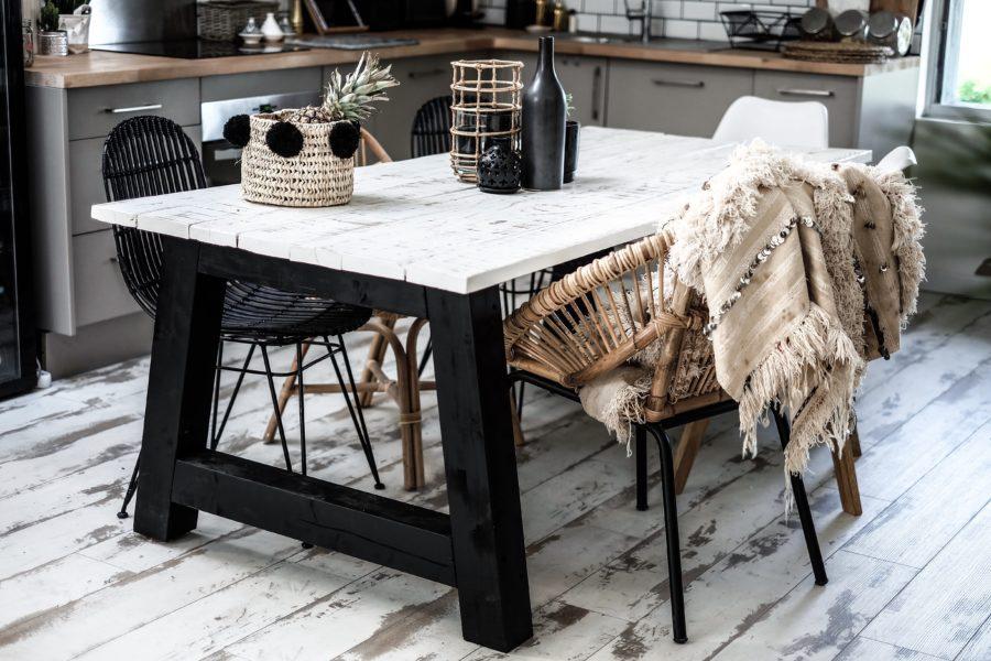 ma table a manger diy lisa germaneau. Black Bedroom Furniture Sets. Home Design Ideas